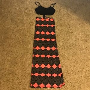 Bebe Cut out Maxi Dress
